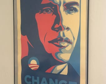"Limited Edition: Shepard Fairey - Obama ""CHANGE"" Print (numbered)"