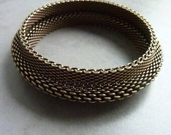 Old brass SNAKE Bangle Bracelet