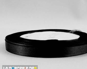 22 m 10 mm black satin ribbon
