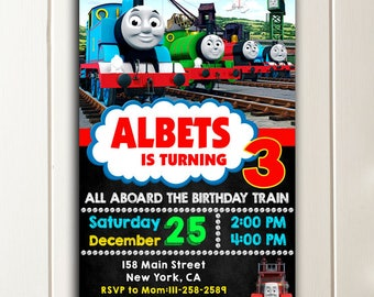 Thomas The Train Invitation, Thomas The Train Birthday, Thomas The Train Birthday Invitations, Thomas The Train Party, Thomas Train Invites