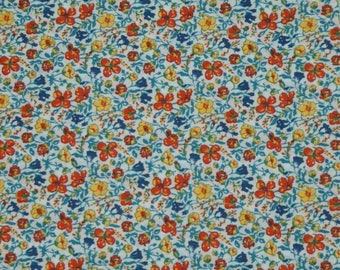 "Coupon - 33.3 cm x 135cm Liberty of London fabric - multicolored. ""Helena's Meadow""."