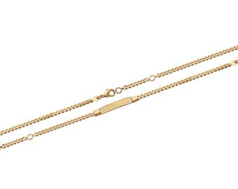 Plated mixed chain bracelet gold 16 cm / 60283316