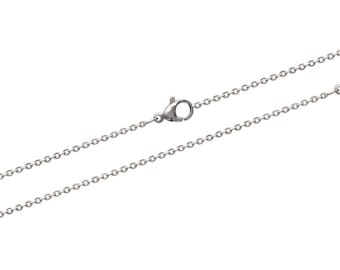 Steel thickness 1.5 mm length 45 or 50 cm trace chain