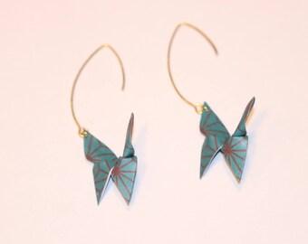 Origami Butterfly Oriental earrings