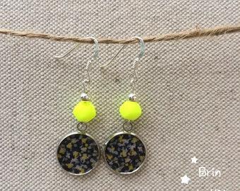 Fancy with silver hook earrings