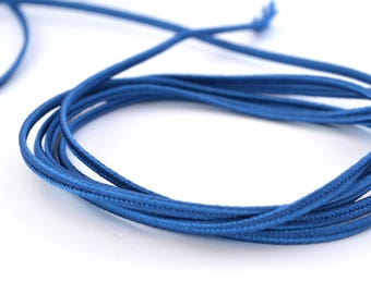 Blue soutache cord 3mm made in France