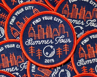 Find Your City Phish Summer Tour 2015 Patch **Price drop! Tour's over :( **