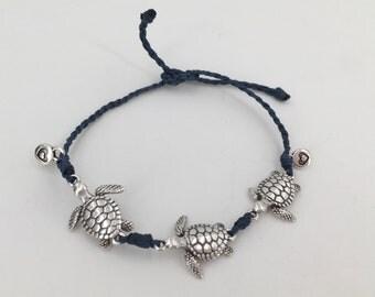 Boho bracelet, turtle bracelet, minimalist bracelet, friendship bracelet