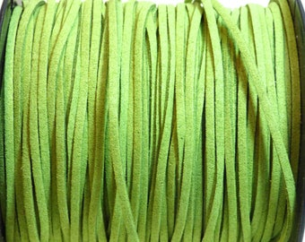 2 m cable flat green suede