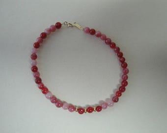 Bracelet 4 mm Rhodochrosite beads