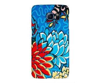 Case Samsung S3, S4, S5, S6, S7, A3, A5, A7, J3, Note, Liberty Meandering Chrysanthemums