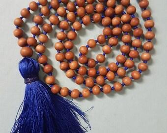 Sandalwood Mala~Sandalwood; 108 Bead Mala