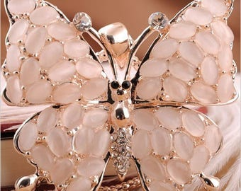 Pink beautiful Butterfly pendant with chain