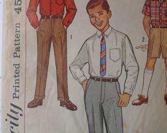Boy's Shirt, Pants, Shorts Pattern, Vintage Simplicity 3610, Size 8 - CoPA Pattern