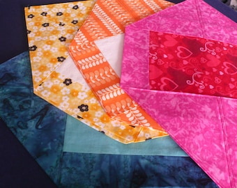Table Toppers, Placemats, Multiple Colours, Hostess Gift, Co-worker, Housewarming, Teacher - Orange Print