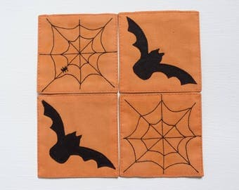 Halloween set of four coasters
