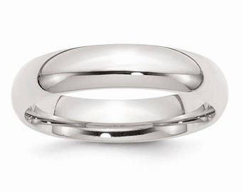 Sterling Silver .925 5mm Comfort Fit Men's and Women's Wedding Band Ring Thumb/ Knuckle/ Toe Rings Sizes 4-14 High Polished U.S made.
