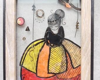 """Stained glass frame - """"Hortense"""" (2)-"""