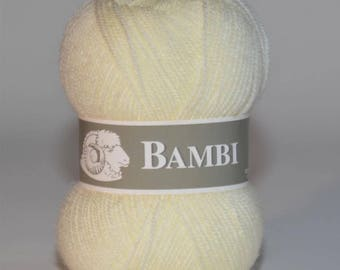 Ball of yarn Bambi special baby Ecru