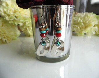 Venice Carnival mask earrings