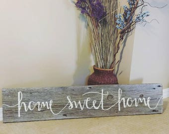 Home sweet home authentic barn wood decor