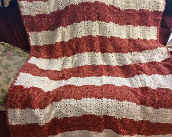Large Striped Heavy Afghan