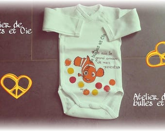 hand painted personalized orange fish body