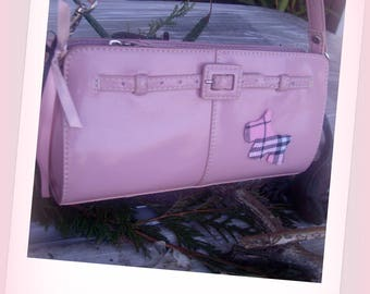 Pink faux leather bag