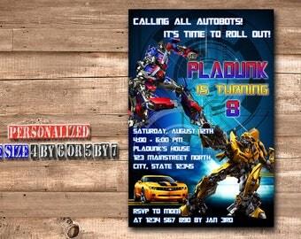 Transformer Invitation,Transformer Birthday,Transformer Birthday Invitation,Transformer Party,Transformer Birthday Party-211