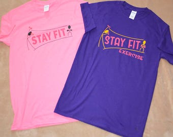 2  Small Exercise Tshirts