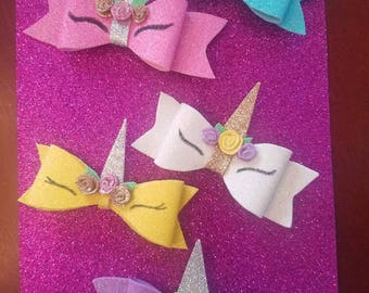 Unicorn Hair Bows