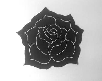 Small Rose Paint Patch