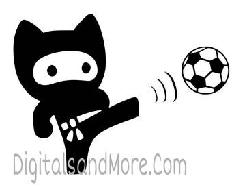 Svg. Ninja Soccer Svg, Ninja Svg, Soccer Svg, Cute Ninja Svg, Soccer Player Svg, Cutting File, Cricut Cutting File, Svg's, Iron On Designs