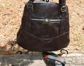 Conceal Carry Three Pocket Handbag