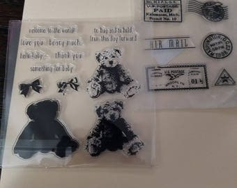 3d bear and travel stamps