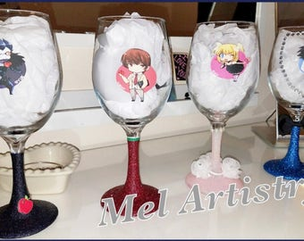 Death note wine glasses