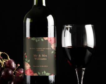 Wedding bottles, Personalised wine bottle label