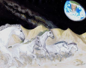 Lunar Gallop - Original Artwork - Print