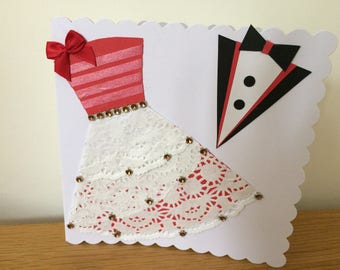 Handmade Bride and Groom Wedding Card