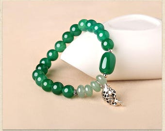 Agate and Jade Bracelet