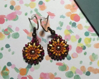 Small flowers Motley earrings