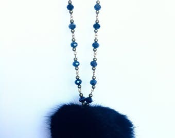 Angora tassel necklace