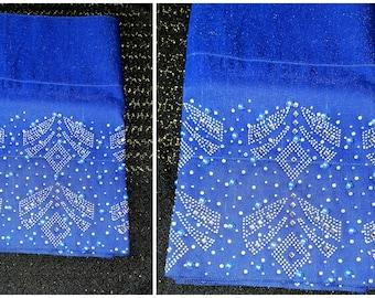 Luxury Aso Oke Gele / headwrap/ headgear/beaded stone and pearls with glitters