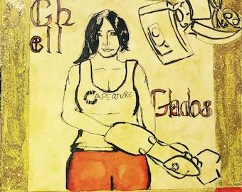 Original Chell and Glados