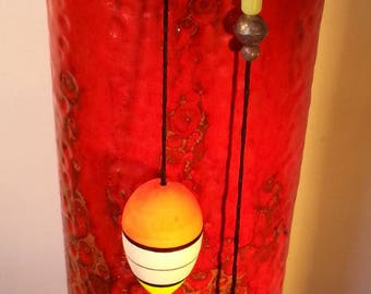 Red glazed ceramic with lead and plug fishing box