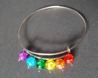 Rainbow Adjustable Bangle Bracelet
