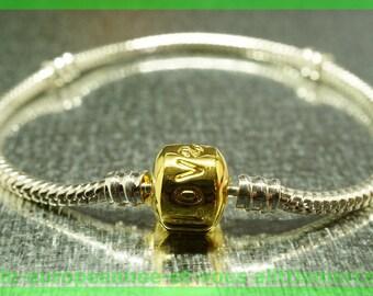 love bracelet silver N55 clasp 18cm for European charms Pearl clip