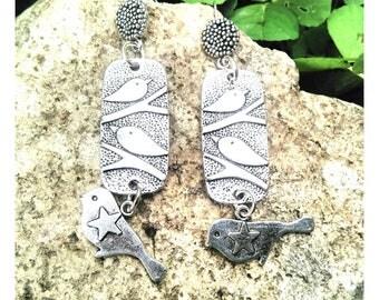 Birds /boucles earrings ethnic earrings / earrings for ears pierced/Bohemian earrings