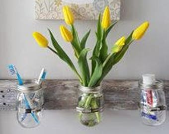Upcycled wall vases