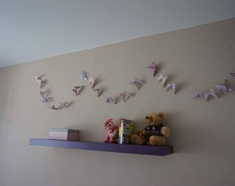 Butterfly origami baby room decoration Garland